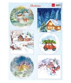 FEUILLE 3D CHRISTMAS - VK9579