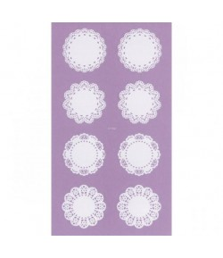 STICKERS DENTELLE NAPPERONS X16