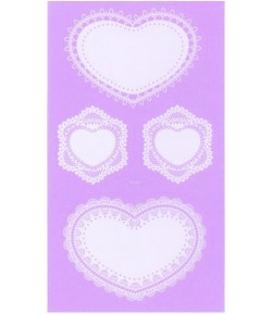 STICKERS DENTELLE COEURS X8