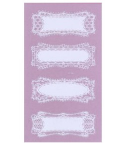 STICKERS DENTELLE RECTANGLES X4