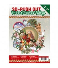 BLOC 3D A4 + PAPIERS -  WARM CHRISTMAS N°17
