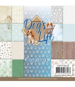 BLOC 23 FEUILLES 15 X 15 CM - DOG'S LIFE ADPP10028
