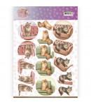 FEUILLE 3D CAT'S WORLD CD11370