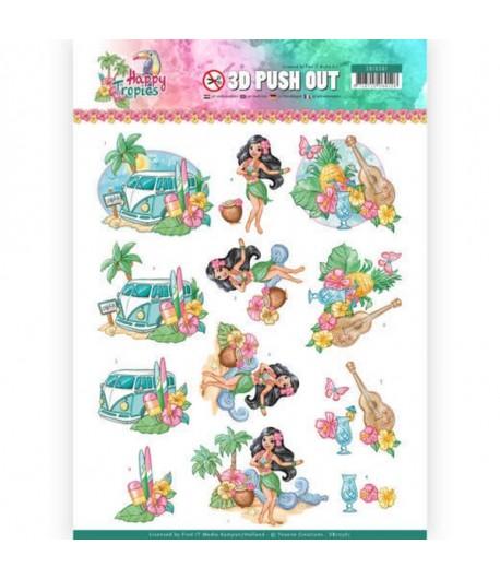FEUILLE 3D HAPPY TROPICS TROPICAL - SB10361