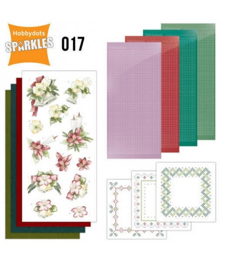 KIT 3D HOBBYDOTS CHRISTMAS FLOWERS - 017