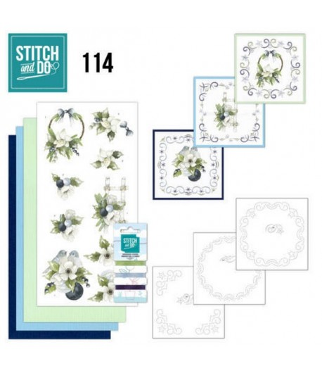 KIT 3D A BRODER BLUEBERRY CHRISTMAS - 114 - STITCH AND DO