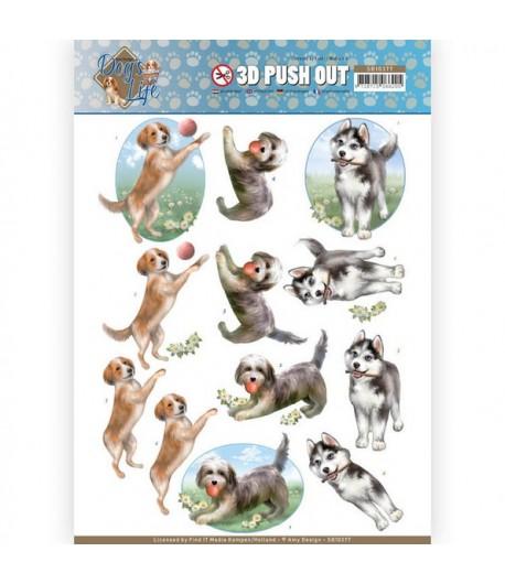 FEUILLE 3D DOG'S LIFE - SB10377