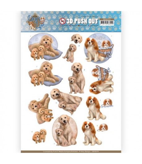 FEUILLE 3D DOG'S LIFE - SB10379