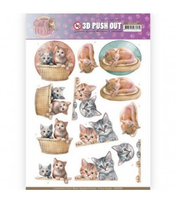 FEUILLE 3D CAT'S WORLD - SB10380