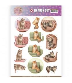 FEUILLE 3D CAT'S WORLD - SB10382