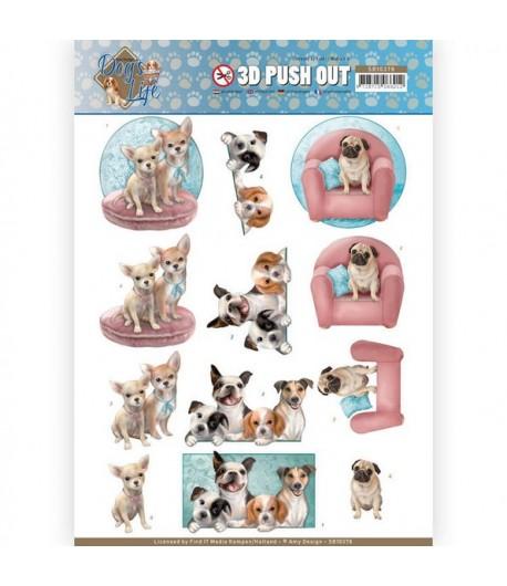 FEUILLE 3D DOG'S LIFE - SB10378