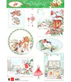 FEUILLE COZY CHRISTMAS MD- EWK1255