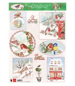 FEUILLE COZY CHRISTMAS MD- EWK1271