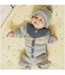 LAINE BABY DREAM LUX BLEU PETROLE JAUNE (013)