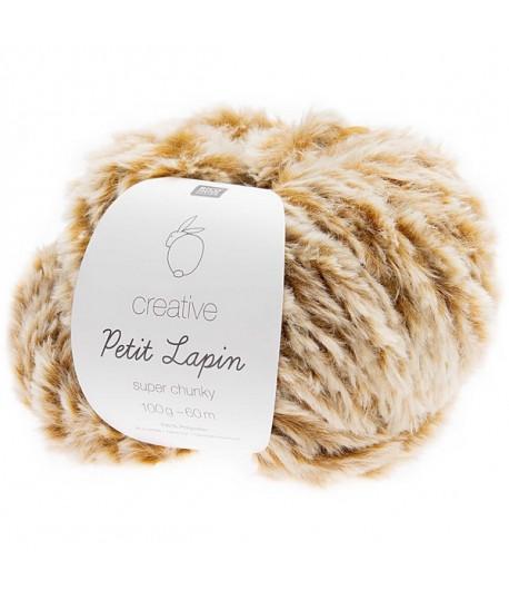 LAINE CREATIVE PETIT LAPIN MOUTARDE (004)