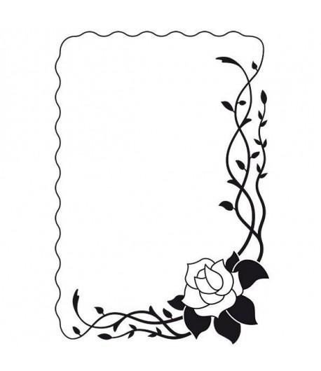 PLAQUE DE GAUFRAGE ROSE - VINF003