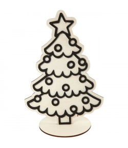 FIGURINE BOIS SAPIN FOAM CLAY