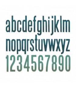 DIES ALPHABET ET CHIFFRES - SIZZIX 664224