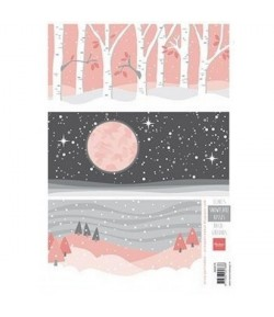 FEUILLE PAYSAGES HIVER AK0076