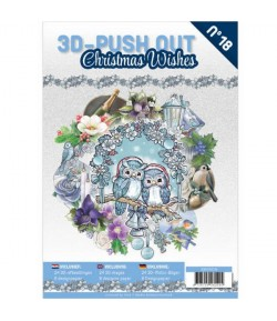 BLOC 3D A4 + PAPIERS -  CHRISTMAS WISHES N°18