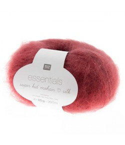 LAINE SUPER KID MOHAIR ROUGE VIN (040)