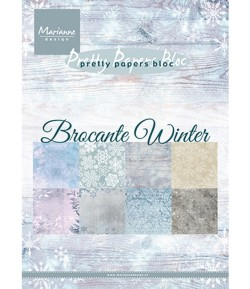 BLOC A5 BROCANTE WINTER - MARIANNE DESIGN - PK9165