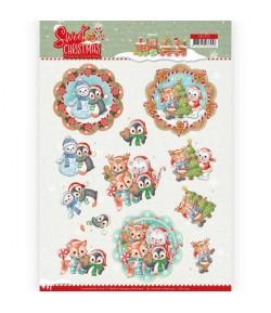 FEUILLE 3D SWEET CHRISTMAS CD11374