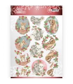 FEUILLE 3D LOVELY CHRISTMAS CD11375