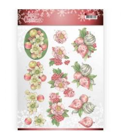 FEUILLE 3D LOVELY CHRISTMAS CD11376