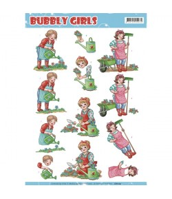 FEUILLE 3D BUBBLY GIRLS - CD11241