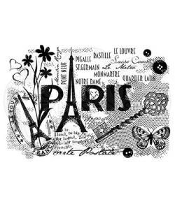 TAMPON CLEAR PARIS POSTCARD