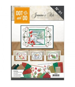 LIVRET CARTES DOT AND DO ET FEUILLES 3D - CHRISTMAS CLASSIC N° 1