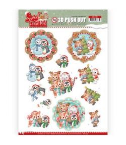 FEUILLE 3D SWEET CHRISTMAS - SB10397