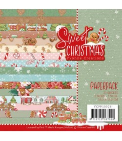 BLOC 23 FEUILLES 15 X 15 CM - SWEET CHRISTMAS YCPP10026