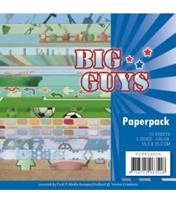 BLOC 23 FEUILLES 15 X 15 CM - BIG GUYS YCPP10024