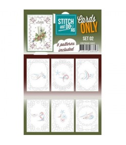 6 CARTES A BRODER STITCH AND DO - SET A610002