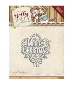 DIE HOLLY JOLLY MERRY CHRISTMAS 10075