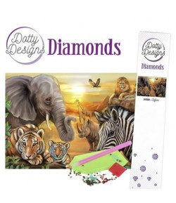 KIT DIAMOND PAINTING SAFARI 29.7X42CM