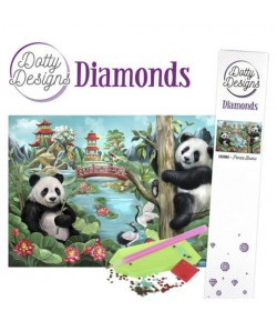KIT DIAMOND PAINTING PANDA