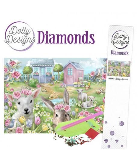 KIT DIAMOND PAINTING BABY ANIMAUX 29.7X42CM