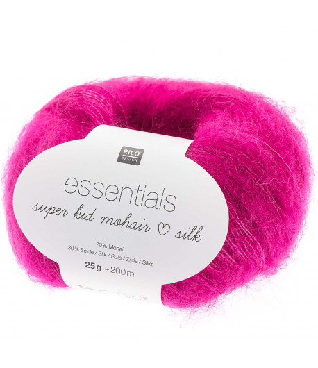 LAINE SUPER KID MOHAIR FUSCHIA  (021)