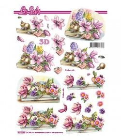FEUILLE 3D FLEURS 8215789