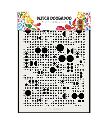 POCHOIR A5 RONDS - DUTCH DOOBADOO