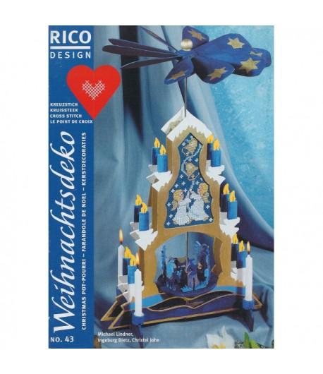 LIVRET RICO BRODERIE 43 FARANDOLE DE NOEL