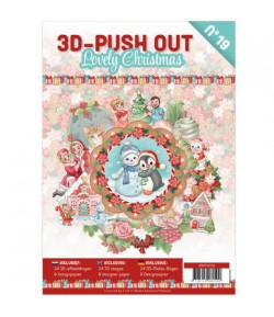 BLOC 3D A4 + PAPIERS - LOVELY CHRISTMAS N°19