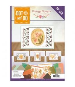 LIVRET KIT 3D DOT AND DO VINTAGE FLOWERS DODOA6002