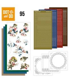 KIT 3D DOT BONHOMMES DE NEIGE DODO095
