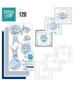 KIT 3D A BRODER ARTIC FRIENDS - 120 - STITCH AND DO