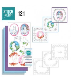 KIT 3D A BRODER WINTER ANIMALS - 121 - STITCH AND DO