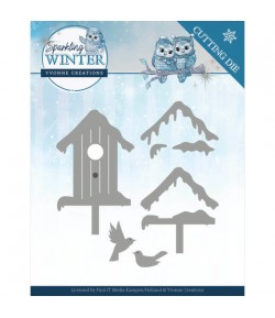 DIES WINTER BIRDHOUSE YCD10190
